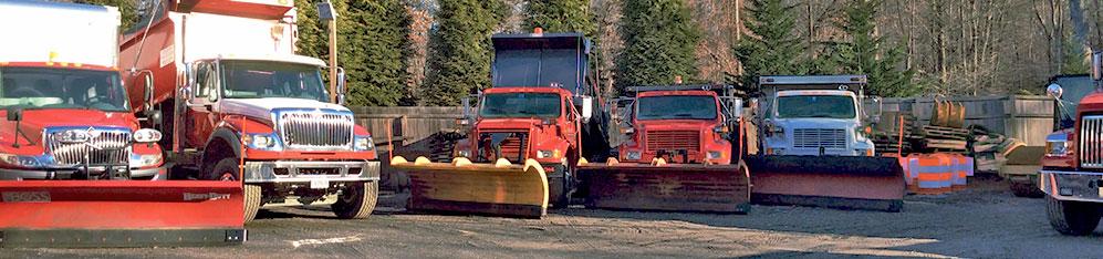 excavators and heavy duty trucks at Chavis Enterprises